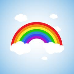 Rainbow icon flat. Homosexual minority concept icon