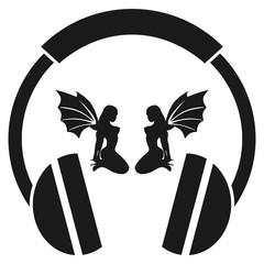 Girl. DJ. Headphones