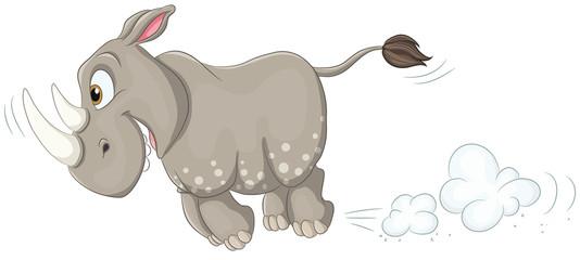 Rennendes Nashorn - Vektor-Illustration