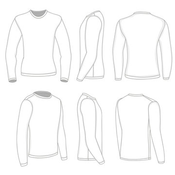 A set of men's shirts with long sleeves.