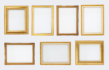 Total gold frame on a white background.