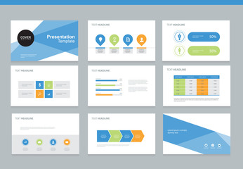 presentation background design template with infographic elements design for brochure, Annual report, book with cover background design