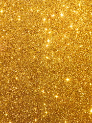 Luxury Glitter - Design Gold Glowing Sequins Background