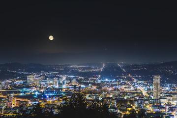 Urban landscape of Portland, Oregon, USA