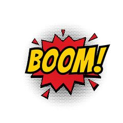 Boom comic text bubble vector isolated color icon
