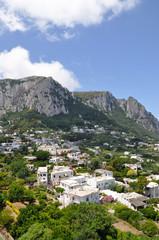 Capri, Faraglioni in the mediterranean sea. Italy, Naples