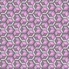 Dibujo geometrico en rosa y verde menta