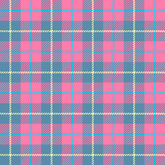 seamless Plaid fabric texture cells with stripes Scotland pattern pink blue small