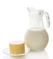 milk carafe with cheese