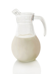 milk in the carafe