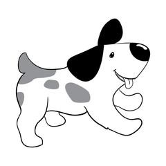 Puppy doodle. Little dog.