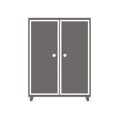 Wardrobe, vector icon.