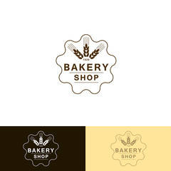 logo design templates graphics for bakery emblems