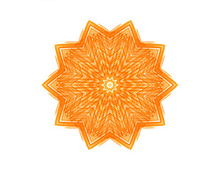 Abstract orange star shape