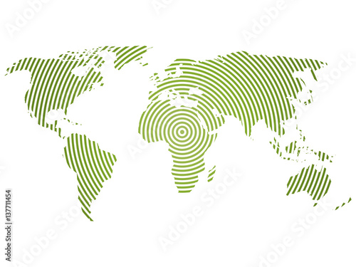 World map of green concentric rings on white background worldwide world map of green concentric rings on white background worldwide communication radio waves concept modern gumiabroncs Image collections