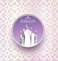 traditional holiday of Ramadan Kareem card background