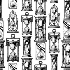 Seamless pattern with different hourglass