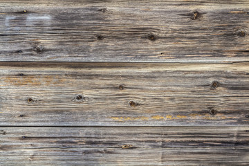 The wall surface of old weathered unpainted boards. Background
