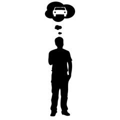 pensar en el coche