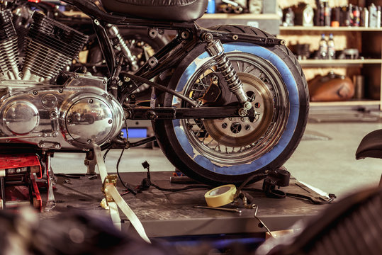 Bike locating in mechanic shop