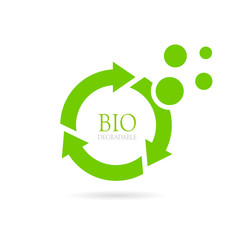 Biodegradable abstract vector icon
