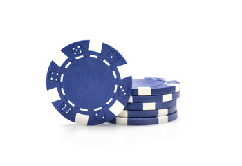 Gambling chips isolated on white background