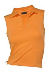 Polo-Shirt orange ärmellos