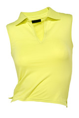 Polo-Shirt gelb ärmellos