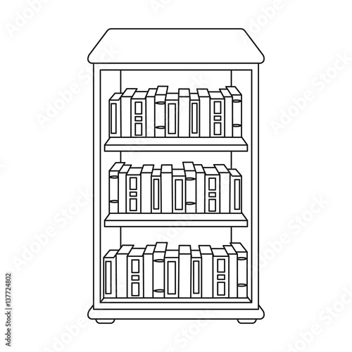 """Library Bookshelf Clipart """"Bookcase with bo..."""