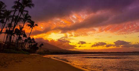 Wall Mural - hawaiian sunset