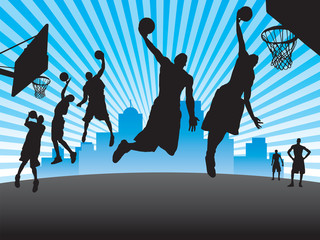 Street Basketball Silhouettes