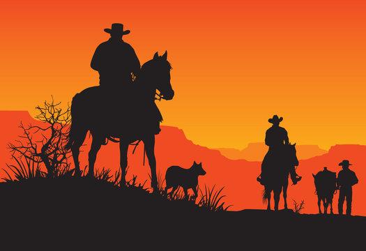 American Western Cowboy