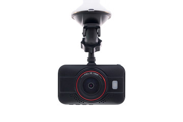 Car camera video recorder isolated