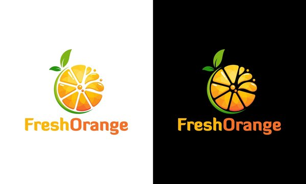 Fresh Orange juice logo in modern style