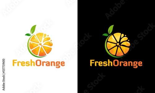 Fresh Orange juice logo in modern style