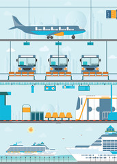 Set of public passenger transport
