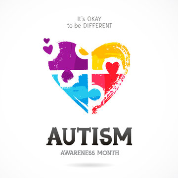 Autism Awareness Month. Puzzle