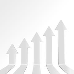 Vector illustration of 3D arrow chart