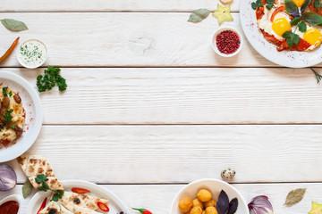 Breakfast Meal Snack Egg Food Appetizer Restaurant Menu Buffet Concept