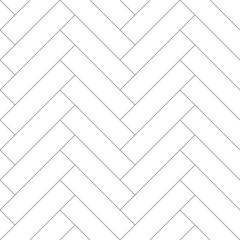 Editable Seamless Geometric Pattern Tile with Herringbone Line Art