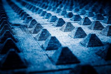 Full frame shot of patterned background in blue tone.