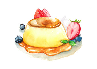 Pudding Watercolor