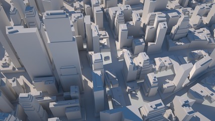Abstract urban landscape, 3 d render