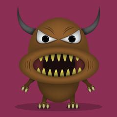 Angry horror monster