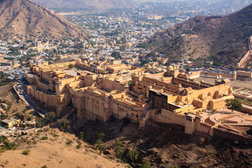 Panoramic view of Amber fort, Jaipur, India