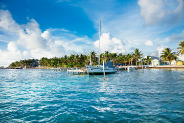 Caye Caulker a small island located approximately 20 miles from Belize City Belize