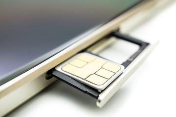 SIM Slot am Smartphone
