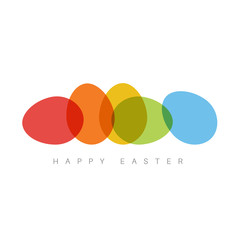 Happy Easter - minimalist colorful easter card