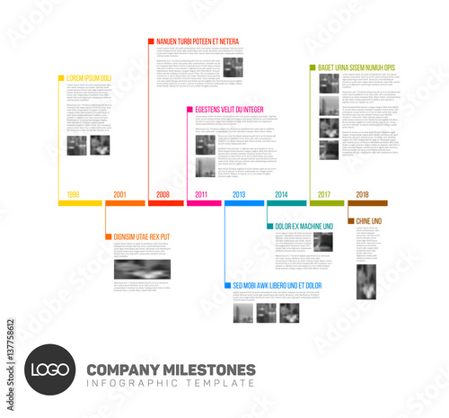 pr timeline template - vector infographic timeline report template stockfotos
