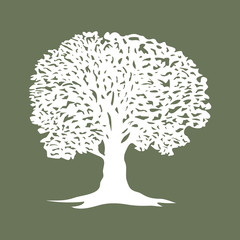 Beautiful tree silhouette icon for websites